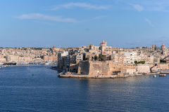Fort St Angelo dominates Grand Harbour of Valetta Royalty Free Stock Photography