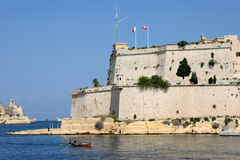 Fort St. Angelo, Grand harbour, Malta Stock Photos