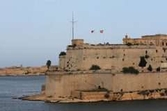 Fort St. Angelo, Malta. View of Fort St. Angelo in Malta and the Grand Harbor Royalty Free Stock Photo