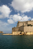 Fort St. Angelo, Malta. Fort St. Angelo, former headquarters of the British navy Mediterranean fleet and now the headquarters of the Knights of St. John of Stock Photo