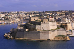 Fort St Angelo, Malta (#2). The medieval Fort St.Angelo seen from the Upper Barrakka Gardens Stock Image