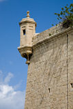 Fort St. Angelo, Malta. A watch tower of the Fort St. Angelo in Vittoriosa in Malta Royalty Free Stock Images