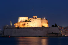 Fort St. Angelo at night. Fort St. Angelo in Malta at night Royalty Free Stock Photo