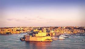 Fort St Angelo in Vittoriosa, Malta. Fort Saint Angelo in Vittoriosa (Birgu), Malta, view from the Grand Harbour Stock Image