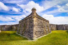 Fort in St. Augustine. St. Augustine, Florida at the Castillo de San Marcos National Monument Stock Image