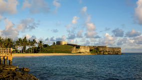 Fort St. Catherine's Museum, Bermuda. A 1614 coastal artillery fort perched at the north east tip of St. George's Island, Fort St. Catherine is a popular royalty free stock photos