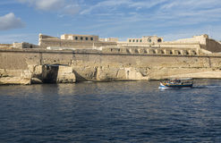 Fort St. Elmo in the Grand Harbour at Valletta on Malta. Stock Images