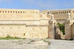 Fort St Elmo på La Valletta Fotografering för Bildbyråer