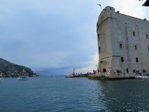 Fort st.Ivan, Dubrovnik,Croatia. Fort st.Ivan in old Dubrovnih Harbour,Croatia stock images
