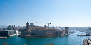 The Fort St Jean, Marseille Stock Images