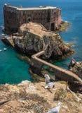 Fort  St John Baptist in Berlenga island, Portugal Stock Photos