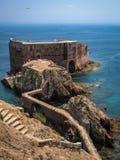 Fort  St John Baptist in Berlenga island, Portugal Royalty Free Stock Photos