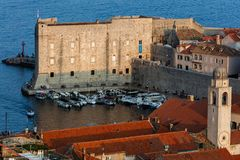 Fort of St. John in Dubrovnik, Croatia,. Dates back to the 16th century, guards the entrance to Dubrovnik`s Old Harbor royalty free stock photo