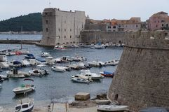 Fort St John Sv Ivana in old city of Dubrovnik Stock Image