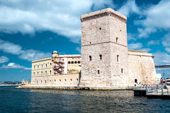 Fort St Nicholas i Marseille Arkivfoton