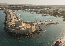 Fort of St. Nicholas in Rhodes Stock Photography