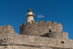 Fort of St. Nicholas in Rhodes royalty free stock photos