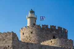 Fort of St. Nicholas in Rhodes Stock Photos