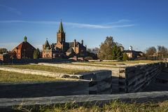 Fort Stanwix National Monument in Rome, New York royalty free stock photos