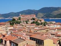 Fort Stella, Portoferraio, Elba, Italien Arkivfoton