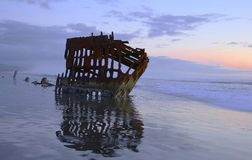 Fort Stevens Beach and Peter Iredale Royalty Free Stock Photography