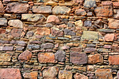 Fort stone wall. Texture of fort stone wall Royalty Free Stock Photography
