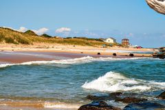 Fort story beach. Fort story Virginia Beach summer Royalty Free Stock Image