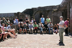 Fort Sumpter tour guide Stock Images