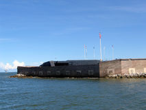 Fort sumter. In the charleston harbor royalty free stock image