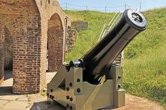 Fort Sumter: Columbiad mortel Fotografering för Bildbyråer