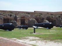 Fort Sumter-Kanonen Lizenzfreie Stockfotos