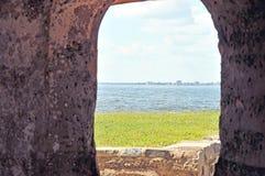 Fort Sumter : Port d'arme à feu photo libre de droits