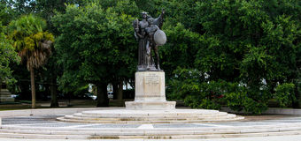 Fort Sumter Statue in Battery Park, Charleston, SC Stock Photography