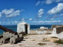Fort sur l'île de la Mozambique photo stock