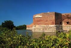 Fort Taylor Bastion och vallgrav Arkivbilder