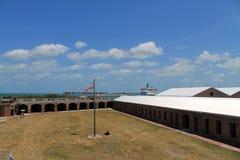 Fort Taylor Key West de drapeau des USA Photo stock