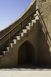 fort återställd trappa Arkivbilder