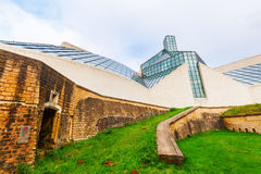Fort Thuengen and Museum for Modern Art -MUDAM- on Kirchberg plateau in Luxembourg City Stock Images