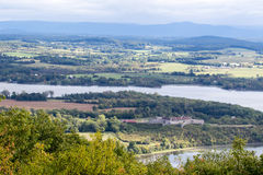 Fort Ticonderoga as viewed from Mount Defiance. Near the southern end of Lake Champlain Royalty Free Stock Photos