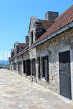 Fort Ticonderoga. Formerly Fort Carillon, is a large 18th-century star fort built by the French at a narrows near the south end of Lake Champlain in upstate Royalty Free Stock Photos