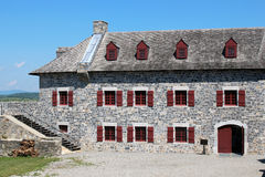 Fort Ticonderoga. Fort Ticonderoga, formerly Fort Carillon, is a large 18th-century star fort built by the French at a narrows near the south end of Lake Stock Photography