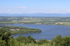 Fort Ticonderoga and Lake Champlain Royalty Free Stock Images