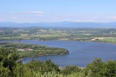 Fort Ticonderoga och sjö Champlain Royaltyfria Bilder