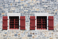 Fort Ticonderoga Protective Windows Stock Photo
