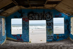 Fort Tilden. Abadoned building in fort tidlen, queens Royalty Free Stock Photography