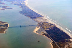 Fort Tilden, Belle Harbor, Rockaways Aerial. Fort Tilden, Belle Harbor, Rockaways Area by the lower bay and Jamaica Bay in New York City also showing the Marine Royalty Free Stock Photo