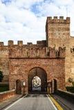 Fort-Tor der ummauerten Stadt Cittadella Lizenzfreie Stockfotografie