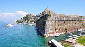Fort and the town of Corfu, Greece, Europe Royalty Free Stock Photos