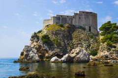 Fort at town Dubrovnik in Croatia Royalty Free Stock Images