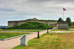 Fort Trumbull - New London, Connecticut. Fort Trumbull in New London, Connecticut along the Atlantic Coast, built in the Egyptian Revival style in the 19th Stock Photography